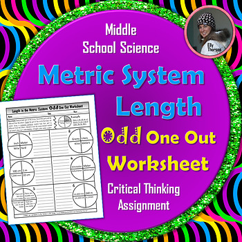 Length in the Metric System Measurement Odd One Out Worksheet