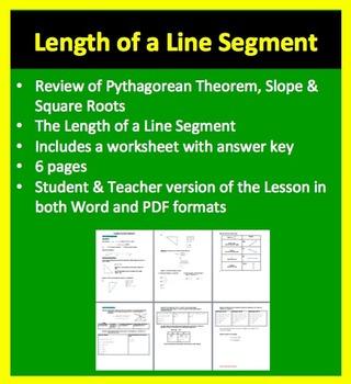 Length of a Line Segment - Geometry - Mathematics