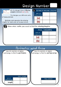 Length, perimeter and area challenge