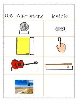 Length with US Customary and Metric Lengths