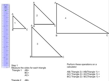 Lengths, Areas and Volumes in similar shapes