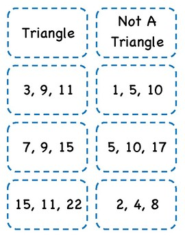 Lengths of Triangles Activity