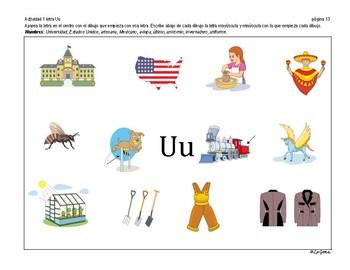 C2 Lenguaje 1 Letras Aa, Ee, Ii, Oo, Uu, Mm.