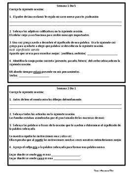 Lenguaje Diario - Quintas seis semanas