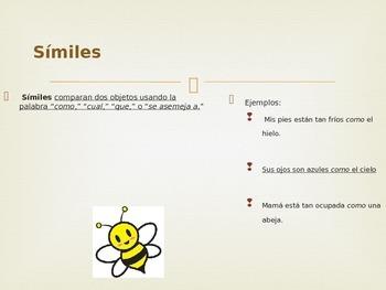 Lenguaje Figurado/ Figurative Language Power Point (Spanish)
