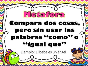 Lenguaje Figurado - Figurative Language - Spanish