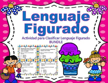 Lenguaje Figurado - Task Cards - SPANISH - Ice Cream Sort GAME - BUNDLE