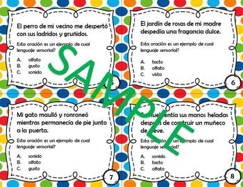 Lenguaje Sensorial - Poesia - Sensory Language - Spanish