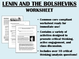 Lenin and the Bolsheviks worksheet - Global/World History Common Core