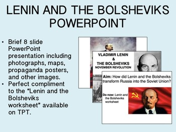 Lenin and the Bolsheviks PowerPoint Presentation