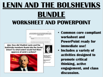 Lenin and the Bolsheviks Bundle - Global/World History Common Core