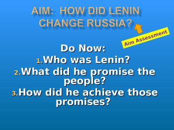 Lenin impact on Russia