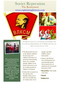 Lenin's Russia Part One: The Komsomol