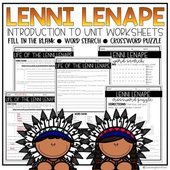 Lenni Lenape [Worksheets]
