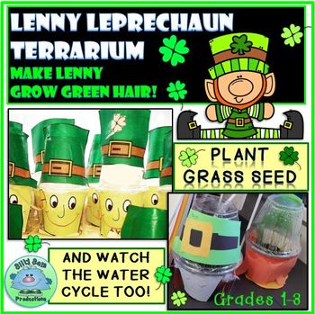 Lenny Leprechaun Terrarium: Make the Green Hair Grow!