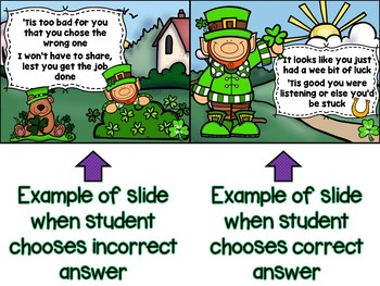 Lenny the Leprechaun (Help Find Me Gold) Interactive Game for Half Note