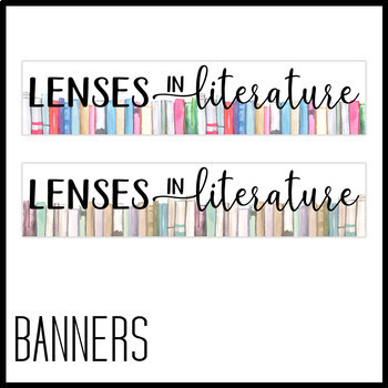 Lenses in Literature Posters: Literature, Book Theme, Literary Theory Decor