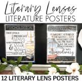 Lenses in Literature Posters: Literature, Book Theme, Lite
