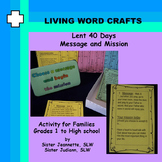 Lent 40 Days Message and Mission for Family, Gr. 1 to 12 a