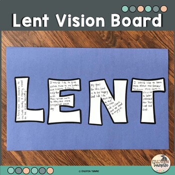 Lent Vision Board By Education Turnpike Teachers Pay
