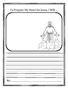 Lent Acrostic Poem and Preparing for Jesus