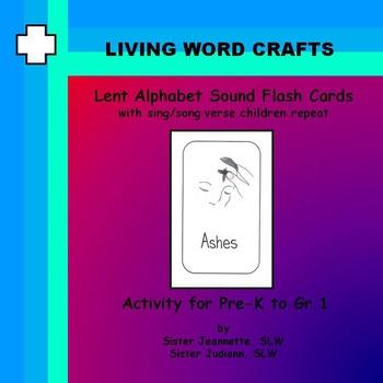 Lent Alphabet Sound Cards Activity for Pre-K to Gr.1