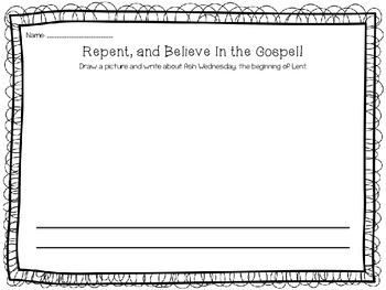 Ash Wednesday: Draw, Write, Pray!