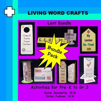 Lent Bundle with3/D Activities for Pre-K to Gr. 3