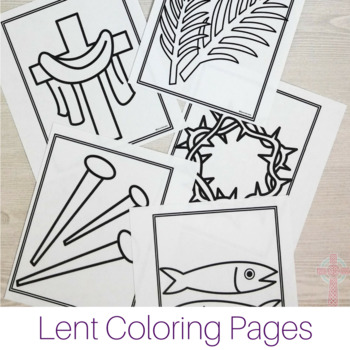 Lent Coloring Pages - No Prep Catholic Activities