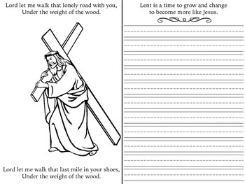 Lent: Coloring page and Journal