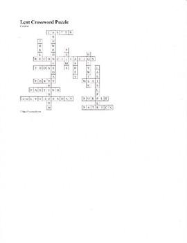 Lent Crossword Puzzle