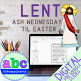 Lent Digital Activities | Ash Wednesday until Easter | Google Slides & Classroom