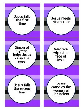 Lent Game: Sort the Stations of the Cross: Reflect on Jesus' Passion and Death