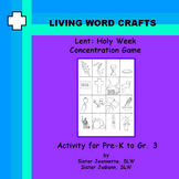 Lent: Holy Week Concentration Game for Pre-K to Gr. 3