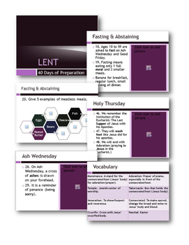 Lent & Holy Week Unit with PowerPoint, Guided Notes, and Test. Print and Teach!