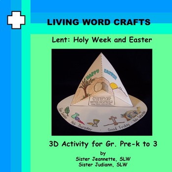 Lent Bible Craft: Holy Week and Easter 3D Activity for Pre-K to Gr.3