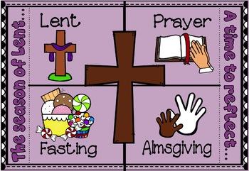 Lent Interactive Foldable for Lenten Promises ~ Bible Theme