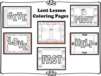 Lent Lesson Coloring Pages