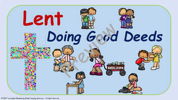 Lent Lesson Plans : three week unit - 2nd to 5th Grade