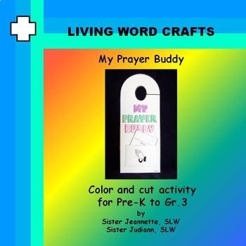 Lent My Prayer Buddy Activity Doorhanger for Pre-K to Gr. 3