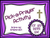 Lent: Pick-A-Prayer Freebie