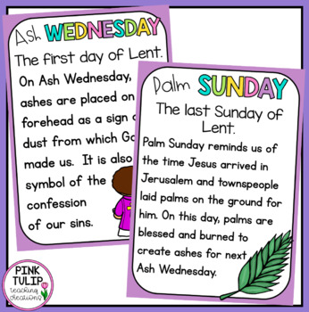 Lent Posters - Classroom Display
