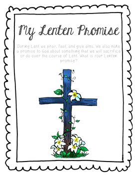 Lent Promise Writing