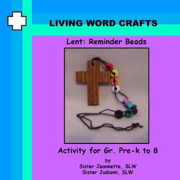 Lent:  Reminder Pocket Beads for Gr. Pre-k to 8