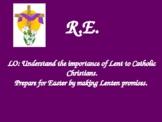 Lent Unit of Work Catholic Flavor Religion Religious Studi