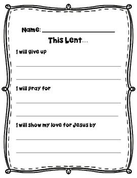Lent Writing Craft Activity