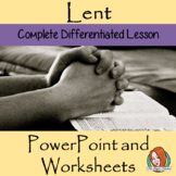 Lent and Ash Wednesday  -  PowerPoint and Worksheets