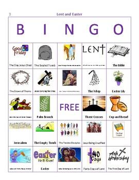 Lent and Easter Bingo