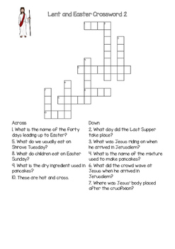 Lent and Easter Crosswords