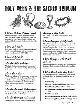 Lent and Holy Week Infographic